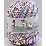 Fendii Fil coton à crocheter Multicolore 50g