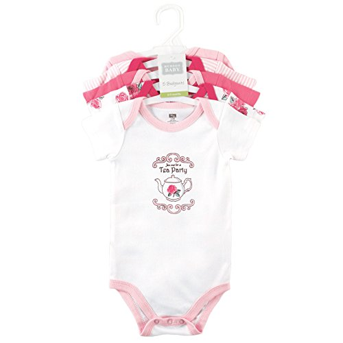Large Product Image of Hudson Baby Infant Cotton Bodysuits, 5 Pack