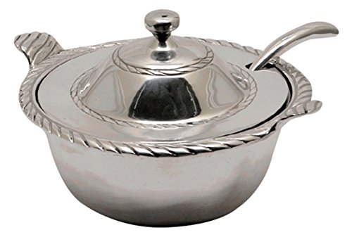 Soup Tureen with Ladle (Pewter Soup Tureen)