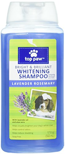 Top Paw Bright & Brilliant Whitening Dog Shampoo - Lavender Rosemary Scent - 17 Fl Oz