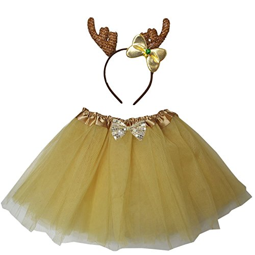 Child Deer Costumes (Kirei Sui Kids Deer Costume Tutu Set Gold)