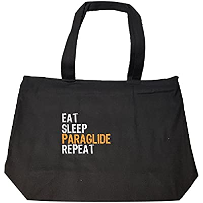 durable service Eat Sleep Paraglide Repeat - Tote Bag With Zip