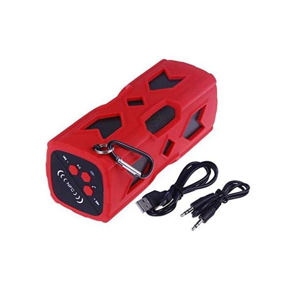 Haut-Parleur Portable Bluetooth étanche Voyage en Plein airHaut-Parleur Bluetooth Rouge 172mmx68mm 1