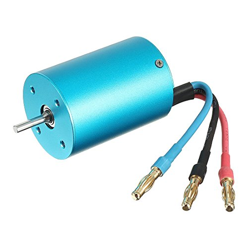 uxcell 3650 4Poles 2090KV Brushless RC Motor for 1/10 RC Car Boat by uxcell