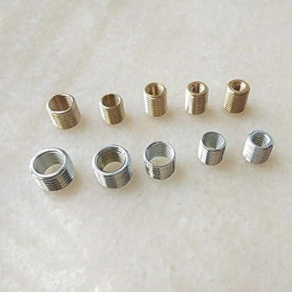 10mm M10 vers M12//M14 Filet/é Tube creux Adaptateur Int/érieur Ext/érieur Filet/é Coupleur Convecteur Adaptateur M8 to M10 1.0mm pitch Ochoos 10pcs//lot M4//5//6 vers M10 Zinc plated M8 vers M10