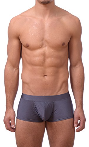 Mens Printed Hot Body Boxer Swimsuit by Gary Majdell Sport (New Charcoal, Medium)