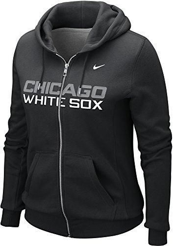 Nike Women's Chicago White Sox MLB Classic Full Zip Hoodie (Small, Black)
