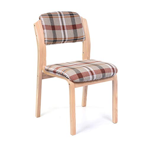 Stackable Modern Home Dining Bar Chair Bar Office with Backrest Dining Chair (Color : Lattice) ()