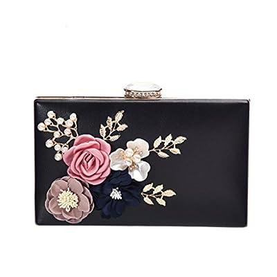 Women's New Evening Handbags Flower Evening Clutch Pearl Beaded Evening Handbag For Cocktail Wedding