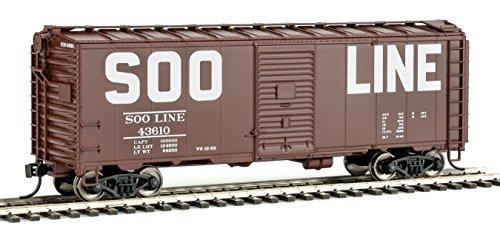 Walthers HO Scale 40' AAR Modified 1937 Boxcar Soo Line (Block Lettering) #43610 (Modified 40' Aar Boxcar)