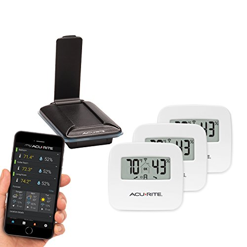 (AcuRite 01166M 3-Sensor Indoor Temperature and Humidity Monitoring System)