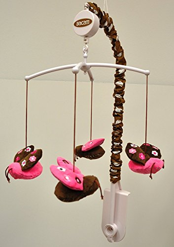 Lady Bugs Pink/Chocolate Musical Mobile