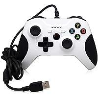 USB Wired Game Controller Xbox One/Slim Gamepad Joystick Joypad PC Win / 7/8 / 10 (White)
