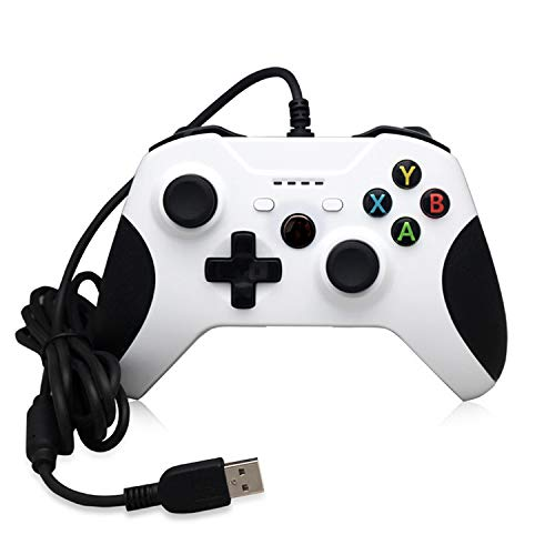 USB Wired Game Controller Xbox One/Slim Gamepad Joystick Joypad PC Win / 7/8 / 10 (White)
