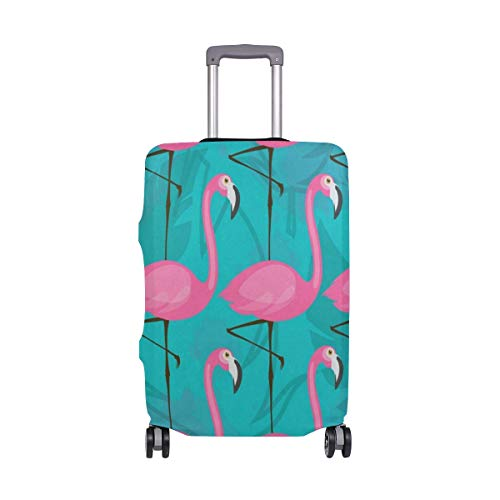Suitcase Cover Pink Flamingos Luggage Cover Travel Case Bag Protector for Kid Girls