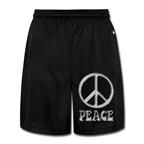DCM500 Men's We Love Peace Workout Pants Black Size XL