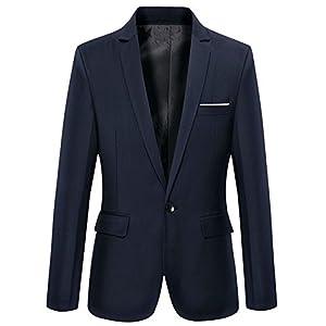 Beninos Men's Slim Fit Casual One Button Blazer Jacket Sport Coat