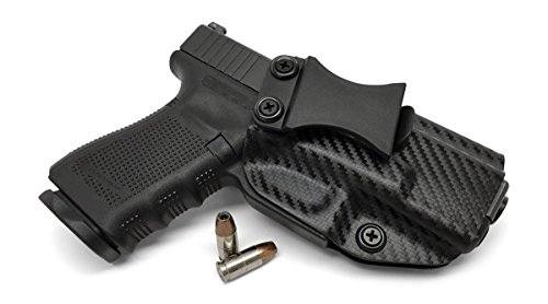 (Concealment Express IWB KYDEX Holster: fits Glock 17/19/22/23/26/27/31/32/33 (Gen 1-5) - US Made - Inside Waistband Concealed Carry - Adj. Cant/Retention (CF BLK, Right))