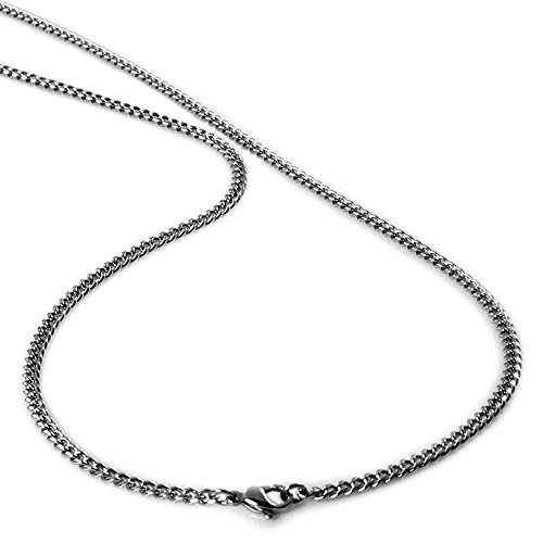 Men's Stainless Steel Curb Chain Necklace 4mm 24