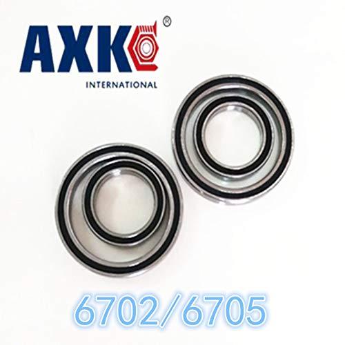 10pcs Thin Section Ball Bearings - Length: 6702RS Ochoos Limited Time-Limited Steel Ochoos 6702rs 15x21x4 Mm //6705rs 25x32x4 Bearing ABEC-1