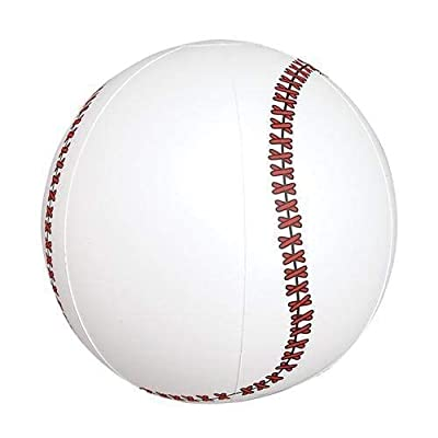 "RI Novelty Inflatable Baseballs 9"" 12 Per Order: Toys & Games"