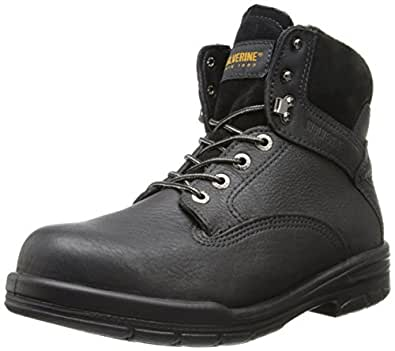 "Wolverine Men's DuraShock SR Boot 6""-Steel Toe EH,Black,US 8.5 W"