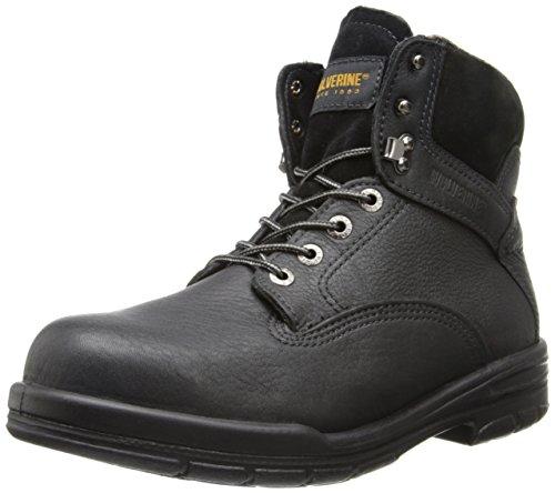 Wolverine Men's SR Durashock DS MNS 6 Inch Steel Toe EH Work Boot, Black, 9 M US