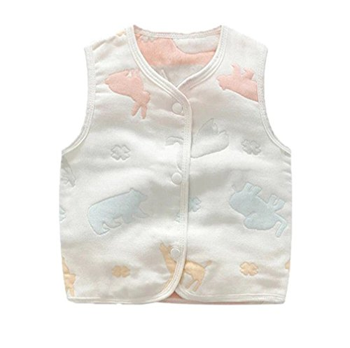 luyusbaby Infant Baby Outwear Vests Colorful Guaze Reversible Waistcoat 0-3 - 1 Waistcoat