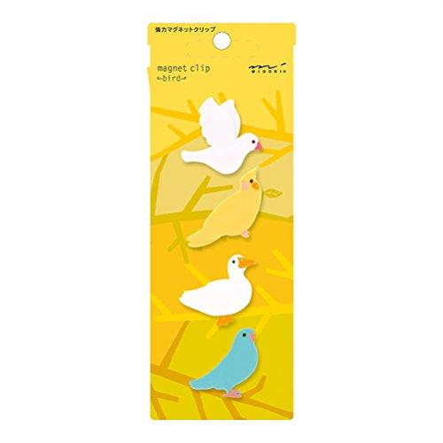 Midori Magnet Clip, 4 Pieces, Birds (43326006)