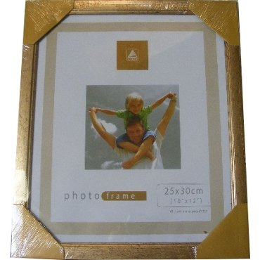 Gold Metallic Look Photo Picture Frame 10 X 12 25 X 30cm Amazon