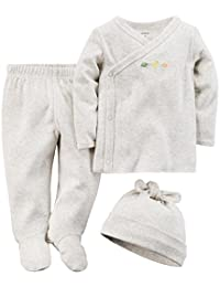 Carter's Unisex Baby 3 Piece Footed Set (Baby)