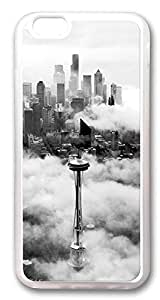iPhone 6 Cases, Seattle Space Needle Tower Custom Design TPU Case Cover for Apple iPhone 6 with 4.7 inch Screen TPU Transparent