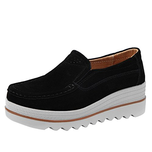 Women Flats Leather Casual Shoes Creepers Muffin Shoes Sneakers Moccasins by Limsea