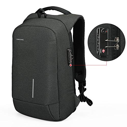 Lightweight Travel Laptop Backpack, Kingsons Business Travel Computer Bag Slim Laptop Rucksack 15.6