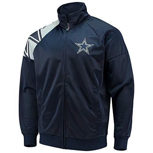 Dallas Cowboys Interception Track Jacket Navy, Medium -