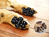 LOOBANI 48 Pieces Dog Paw Protector Traction Pads to Keeps Dogs from Slipping On Floors, Disposable Self Adhesive Shoes Booties Socks Replacement, 12 Sets for 4 Paws (XL-1.97'x2.12', Black)
