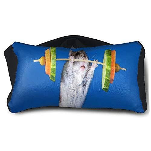 - Eye Pillow Summer Exercises Fruit Funny Hamster Mouse Designer Womens Portable Blindfold Sleeping Eye Bag Mask