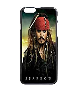 """Captain Jack Sparrow - The Pirates of the Caribbean - On Strange Pattern Image Protective iphone 6 (4.7"""") Case Cover Hard Plastic Case For iPhone 6 - 4.7 Inches"""