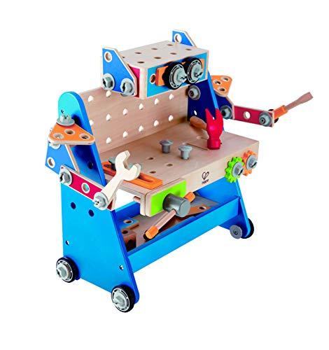 Hape Build-a-Robot Wooden Tool Workbench Pretend Play Construction Builder Set