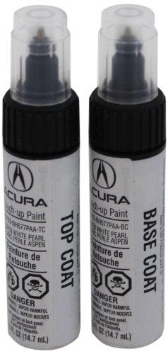 Genuine Acura Accessories 08703-NH677PAA-2P Aspen White Pearl Touch-Up Paint Pen - 0.5 fl. oz. (Aspen White Pearl)