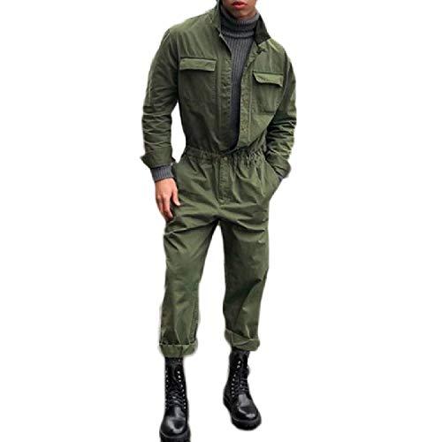 [해외]Againg 남성의 퓨어 컬러 블 레이저 스탠드 칼라 긴 소매 1PCS 바지 / Againg Men`s Pure Color Blazer Stand Collar Long Sleeve 1PCS Overalls