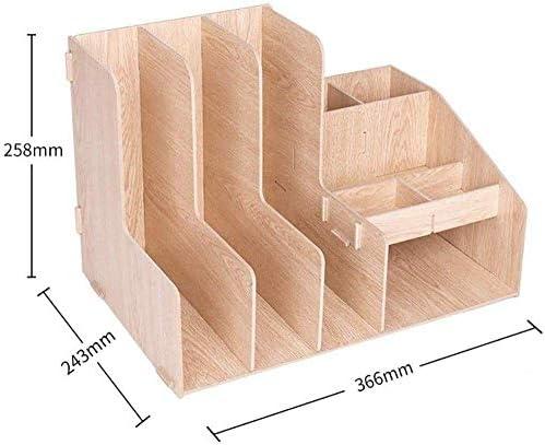 Soul hill Abnehmbare Schreibtisch Aufbewahrungsbox, Holz Desktop-Organizer Storage Rack, Multi-Funktions-Desktop-Business-Bürobedarf Tidy-L (Color : L)