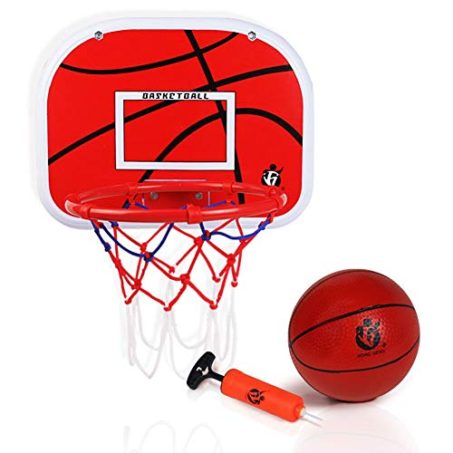 """yoptote Mini Basketball Hoop Over The Door Backboard 15""""x11.5"""" Rim Combo with Ball Pump Dunk Hoop Set Gift for Kids Toddler Youth Boys Girls Men Party Favor Indoor Family -"""
