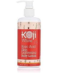 Pure Kojic Acid Skin Lightening Body Lotion – Natural Moisturizer & Uneven Skin Tone For Reduce Wrinkles, Acne Scars & Dark Spot, 10 Ounce Bottle (1 Bottle)