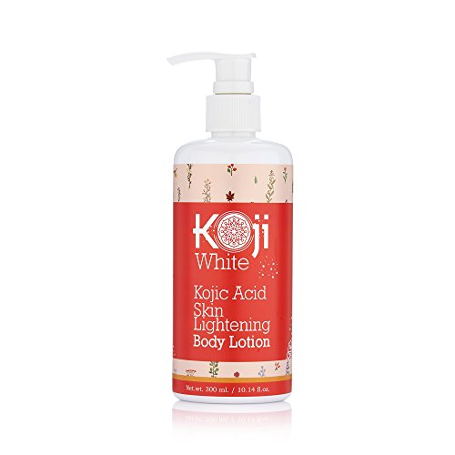 Pure Kojic Acid Skin Lightening Body Lotion - Natural Moisturizer & Uneven Skin Tone For Reduce Wrinkles, Acne Scars & Dark Spot, 10 Ounce Bottle (1 Bottle)