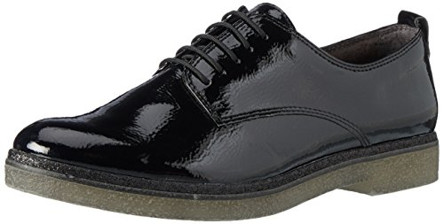 Tamaris Damen 23710 Oxfords Schwarz (Black)