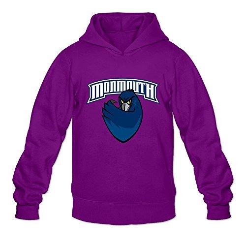 Monmouth Hawks Vavd Men   S 100  Cotton Hoodies Purple Size Xl