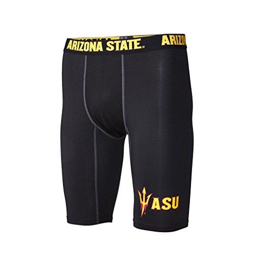 FANDEMICS NCAA Arizona State Men's Compression Short, Men's Small (28-30)