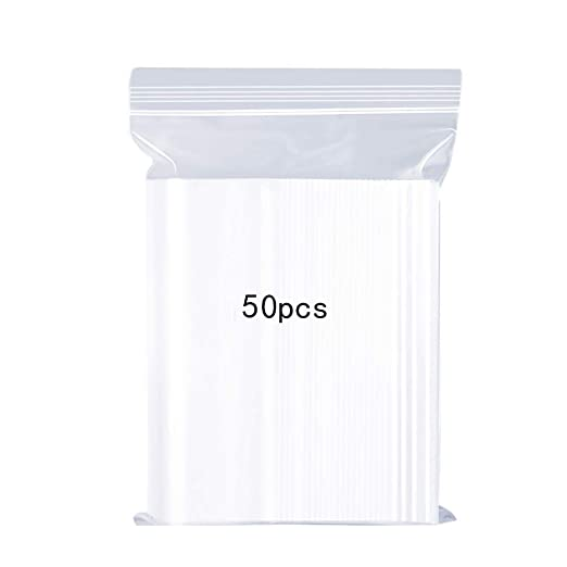 Bolsas de plástico Transparentes Que se Pueden Volver a sellar, Bolsa de Cierre de Cremallera Reutilizable Fuerte Engrosamiento y Duradero Prensa para ...