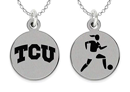 College Jewelry Texas Christian Horned Frogs Women's Soccer Charm Necklace by College Jewelry